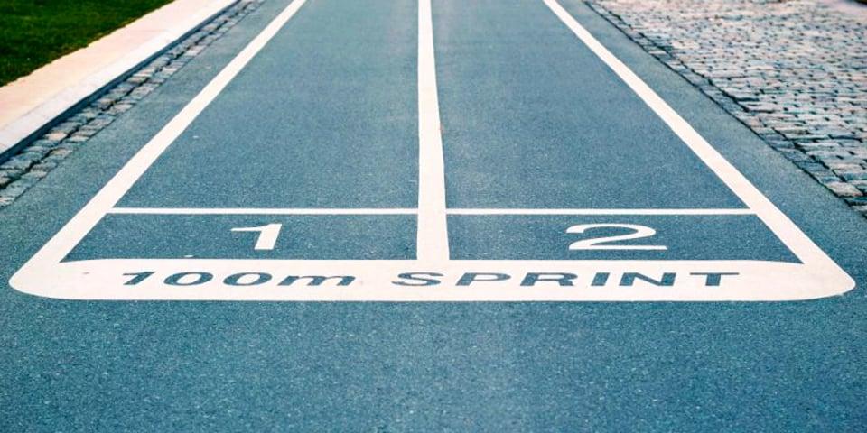 100 meter løbebane