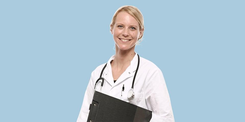 Sygeplejerske i uniform